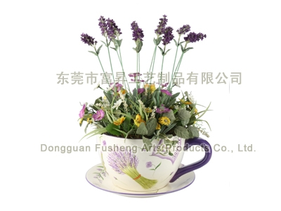 【FP3964/12】Lavender ArrangeArtificial Flowers