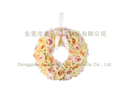 【F5376】Rose WreathArtificial Flowers