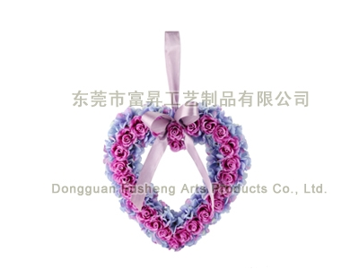 【F5039】Rose/Hydrangea HeartArtificial Flowers