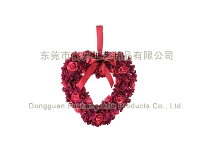 【F5041】Rose/Hydrangea HeartArtificial Flowers