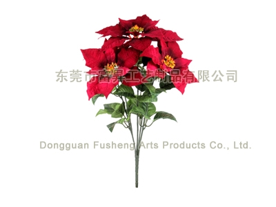 【F5642/5】Poinsettia Bush x Artificial Flowers