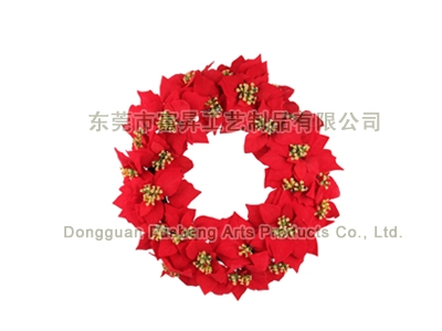 【FP4912】Poinsettia WreathArtificial Flowers