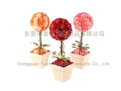 【FP5896】Rose Ball ArrangemeArtificial Flowers